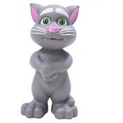 Yeehaw Intelligent Talking Tom Cat with Recording, Music, Story & Touch Functionality, Wonderful Voice with Stories & Songs (Grey)
