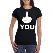Bellatio Decorations Fuck you shirt voor dames XS - Feestshirts