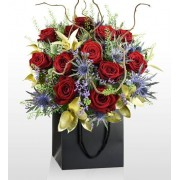 Monarch of the Glen - National Gallery Flowers - National Gallery Bouquets - Luxury Flowers - Red Roses - Anniversary Flowers