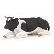 Vaca sezand alb cu negru - Figurina Papo