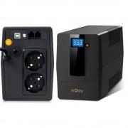 UPS nJoy Horus Plus 600, 600VA/360W, LCD tactil, 2 Prize Schuko cu Protectie, RJ11 (NJOY)