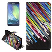 Colorful Meteor Shower Pattern Horizontal Flip Leather Case with Holder & Card Slots for Samsung Galaxy A7 / A700F