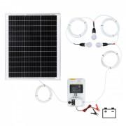 Sistem de iluminat solar 50 W cu 3 becuri
