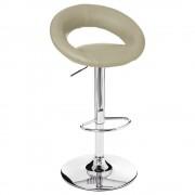 Atmosphera Créateur d'intérieur Barové křeslo z chromované oceli v barvě taupe, taburet, křeslo do kuchyně, barová židle, kovové křeslo, stolička do kuchyně