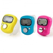 3 pcs Hand Finger Tally Counter Digital Electronic Japa Counter (Multicolor)