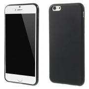 Effen zwart TPU hoesje iPhone 6 Plus / 6s Plus silicone cover Black