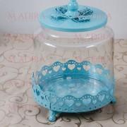 Bomboniera Bleu Pentru Candy Bar Botez Baieti