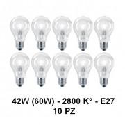 10 Lampada/Lampadina alogena a risparmio energetico 42W (60W) E27 Goccia Cilvani