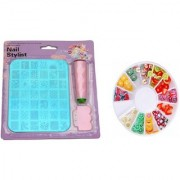 Royalkart Nail Art Stamping Kit Image Plate (XY 13) with 3D Nail Decoration Clay Wheel (MultiColor)