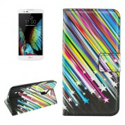 For LG K10 Meteor Shower Pattern Horizontal Flip Leather Case with Holder & Card Slots & Wallet