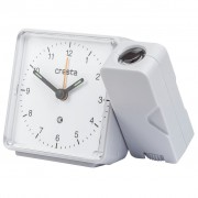 Cresta Analogue Alarm Clock with Projector PRA310 White 24011.01