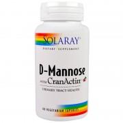 Solaray, D-Mannose 1000 mg cu CranActin Merisoare 400 mg , 60 caps.vegetale + TRANSPORT GRATUIT