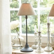 LOBERON Tafellamp Swindon / grijs/beige