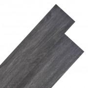 vidaXL PVC põrandalauad 5,26 m², must ja valge