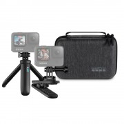 GoPro Travel Kit 2.0 Clip Mount Magnetic + Shorty Mini-trepied + Case Compact Soft