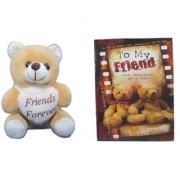 Teddy bear soft toy friend for ever & Card dear friends friends for sister