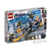 LEGO® Super Heroes 76123 - Captain America Atacul Outriderilor