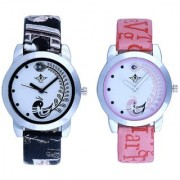 Black Peackock With Lite Pink Peackock Fether Art Design Exclusive SCK Wrist Watch For Women Girl