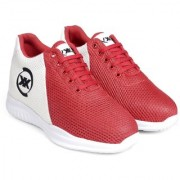 3 Inch Red Hidden Height Increasing Sport Shoes for Cricket Football Basketball etc.