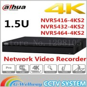 Original DaHua 16/32/64 Channel 1.5U 4K Network Video Recorder NVR5416-4KS2 NVR5432-4KS2 NVR5464-4KS2,free Shipping.