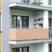 Jarolift Brise-vue pour balcon Basic, tissu respirant, Ivoire, 0,9 x 3 m (HxL)