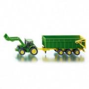 SIKU dečija igračka traktor sa bagerom i prikolicom 1843
