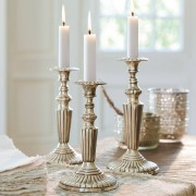 LOBERON Kerzenständer 3er Set Marguerite