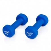Set 2 gantere neopren Maxtar, 2 kg, Albastru