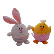 Easter Bunny and Chick Interactive Plush - Stuffed Animal Boinger For Children Of All Ages (Babys First Easter, Toddlers, and Older Kids) Great Gift For Easter Baskets