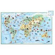 Puzzle observatie - Animalele lumii, 100 piese