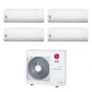 LG Climatizzatore Libero Smart Wifi Quadri Split 7000+7000+7000+7000 Btu Inverter In R32 Mu4r25