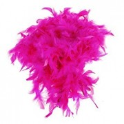 Magenta Feather Boa Fluffy Craft Decoration 6.6 Feet Long by Generic