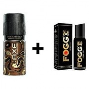 Fogg Black Collection And Axe Deo Deodorants Body Spray For Men - Pack Of 2 Pcs