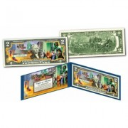 "Merrick Mint Wizard of Oz """"Yellow Brick Road"""" Official Legal Tender U.S. Two-Dollar Bill Red/Yellow"