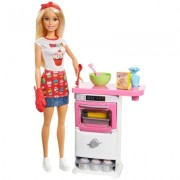 BARBIE BAKERY CHEF DOLL AND PLAYSET - FHP57