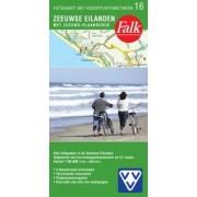 Fietskaart 16 Zeeuwse Eilanden met Zeeuws-Vlaanderen (Met Knooppuntenetwerk) | Falk