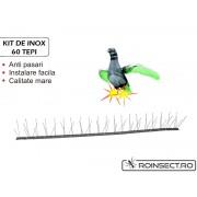 Kit Anti-pasari inox cu 60 tepi (Lungime 1 m)