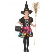 Vegaoo.es Disfraz de bruja multicolor niña - S 4-6 años (110-120 cm)