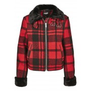 Ladies Plaid Jacket firered/blk XS