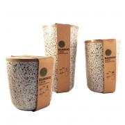 Set 3 recipiente pentru depozitare din fibre de Bambus