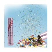 Tun cu confetti multicolore mari 20cm