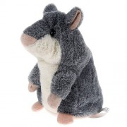 APUPPY Mimicry Pet Talking Hamster Repeats What You Say Plush Animal Toy Electronic Hamster Mouse for Boy and Girl Gift,3 x 5.7 Inches( Gray )