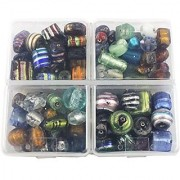 eshoppee fancy glass beads for jewelery making 300 gm mixing set