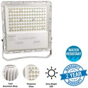 NISCO white led light flood light outdoor halogen lights bulb Water Resistant powerful 120 Watts 12 000 lm ultra thin 2