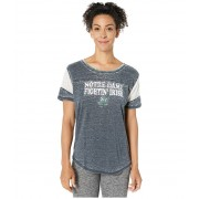 47 College Notre Dame Fighting Irish Fade Out Boyfriend Tee Fall Navy