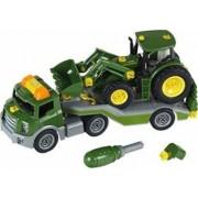 Masinuta Klein John Deere Traktor Trailer