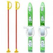 Детски ски + щеки, 70 см., зелени, MASTER, 02-green