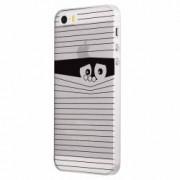 Husa Silicon Transparent Slim Look Black Apple iPhone 5 5S SE