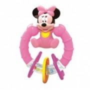 Zornaitoare Minnie Mouse roz cu bilute colorate