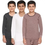 Vimal-Jonney Premium Blended Multicolor Thermal Top For Boys(Pack Of 3)